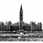 The Crowd At The Inauguration On 1 July 1927 {Library & Archives Canada}