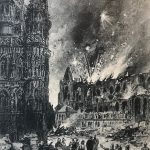 The Destruction Of St. Peter's Church In Leuven In The Night Of 25 To 26 Augustus 1914