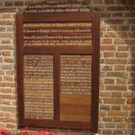 Wooden Memorial Plaque In The Church, With The Names Of Companies That Contributed To The Carillon