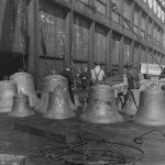 Some Of The Larger Bells On The Sidewalk Awaiting Installation In 1928